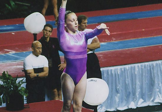Kristal on Balance Beam at finals of the 2001 US Junior National Championships in Philadelphia August 9-11, 2001