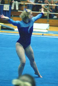 gymnast Maddy Curley on Floor Exercise