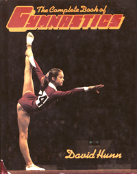 cover of book with photo of gymnast
