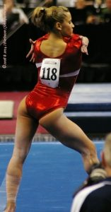 gymnast Alicia Sacramone on floor exercise
