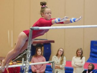 college gymnast on bars