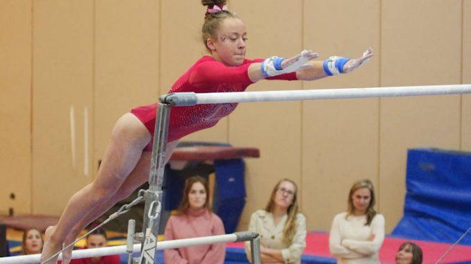 college gymnast on bars