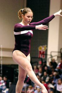 photo of Kendall Beck, gymnast for Stanford University in 2004